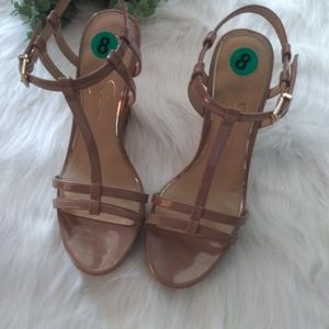 Jessica Simpson Strappy Nude Heels - New